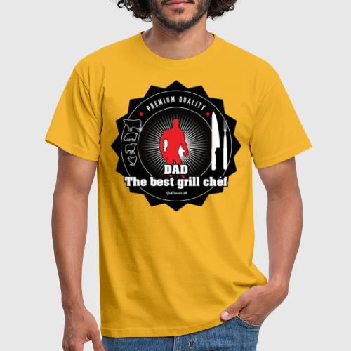 DAD THE BEST GRILL CHEF - Herre-T-shirt