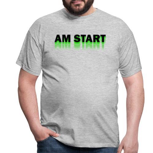 am Start - grün schwarz faded - Männer T-Shirt