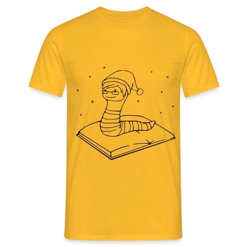 Bücherwurm-Weihnachten - Männer T-Shirt