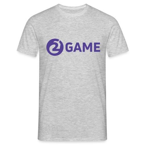 2Game Logo - Purple - Men's T-Shirt