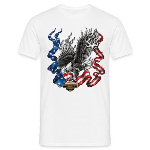 american eagle schrift gross - Männer T-Shirt