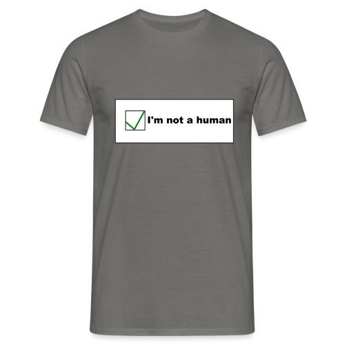 Human Captcha - Männer T-Shirt