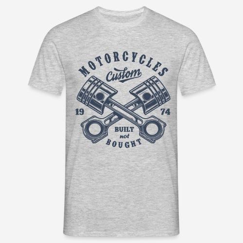 Motorrad benutzerdefinierte Vintage Biker - Männer T-Shirt