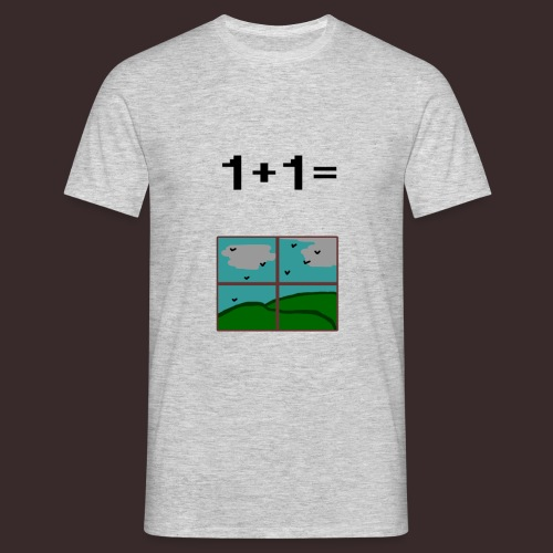 1+1=Window - Men's T-Shirt