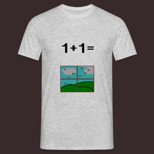 1+1=Window - Men's T-Shirt