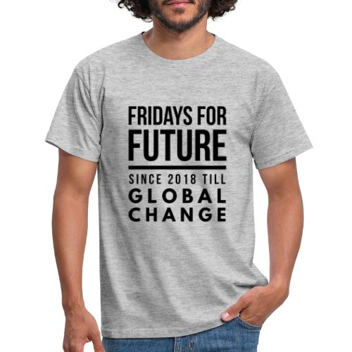 Fridays for Future till GlobalChange RescueTheBlue - Männer T-Shirt