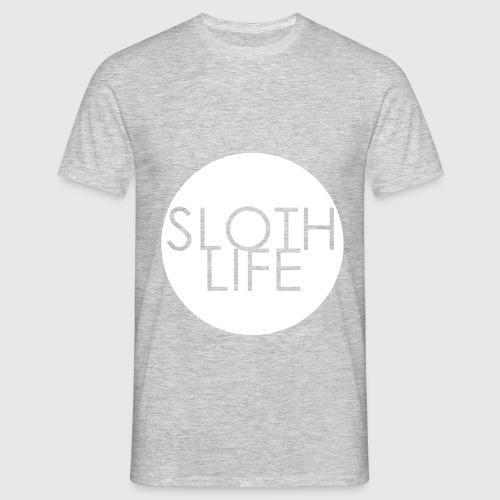 Sloth Life Logo trans whi - Men's T-Shirt