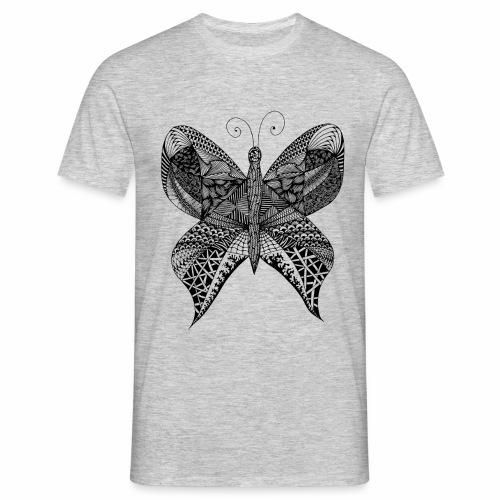 Schmetterling Doodle - Männer T-Shirt