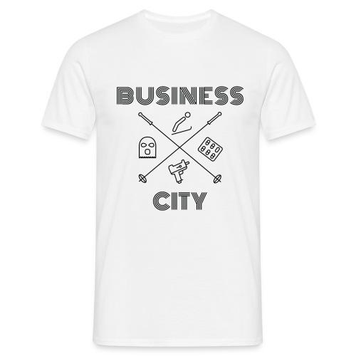 Business City - musta painatus - Miesten t-paita
