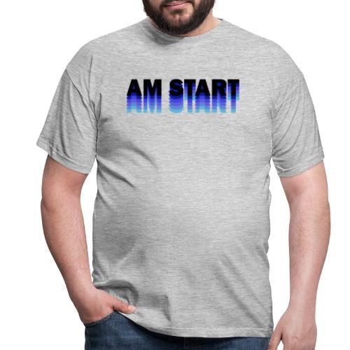 am Start - blau schwarz faded - Männer T-Shirt