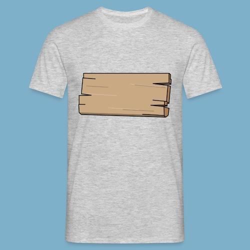 Holz Schild - Männer T-Shirt