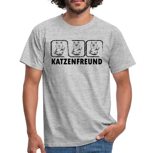 Katzenfreund - Männer T-Shirt