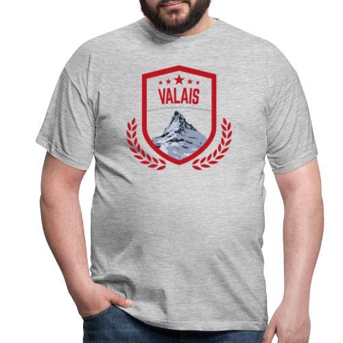 Walliser Logo mit dem Matterhorn - Männer T-Shirt