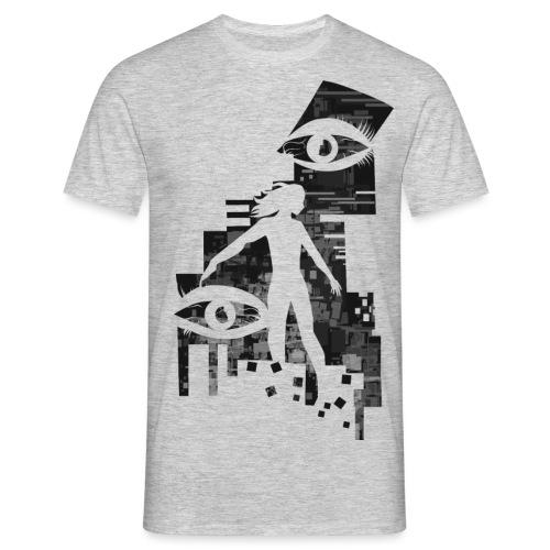 Network Glitch - Mannen T-shirt