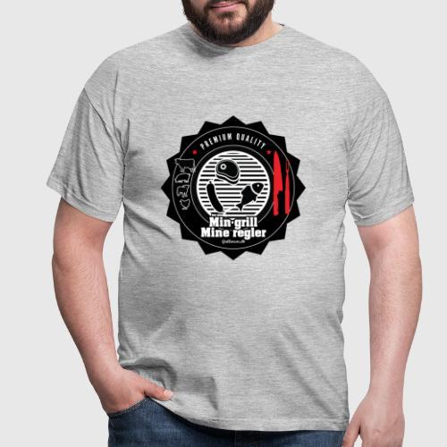 mingrillmineregler png - Herre-T-shirt