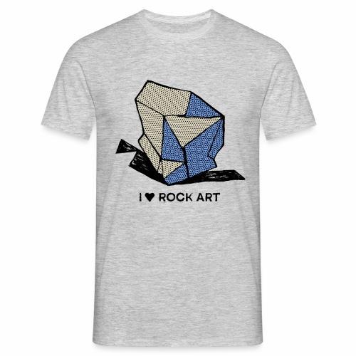 I LOVE ROCK ART No 1 colour - Mannen T-shirt