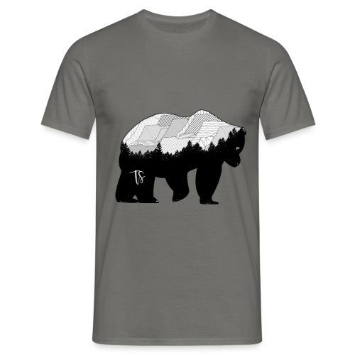 Geometric Mountain Bear - Maglietta da uomo