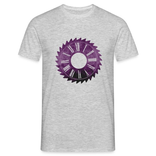 SawClock Purple (clean) - Men's T-Shirt