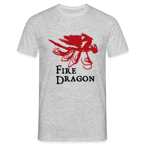 Fire Dragon - T-shirt herr