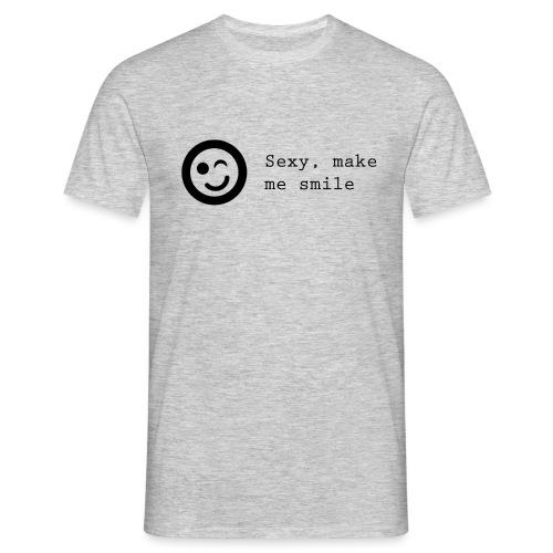 Sexy make me smile - Herre-T-shirt