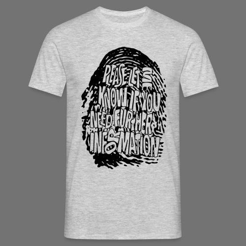 Fingerprint DNA (black) - Männer T-Shirt