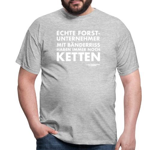 Forstunternehmer | Ketten weiß - Männer T-Shirt