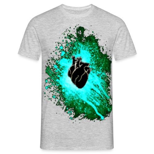 heart black n blue 3 - Men's T-Shirt