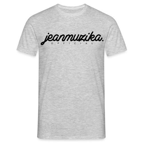 JeanMuzika Logo schwarz - Männer T-Shirt