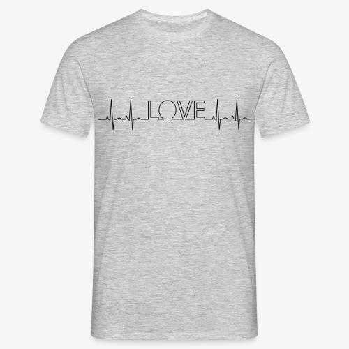 Love EKG - Männer T-Shirt