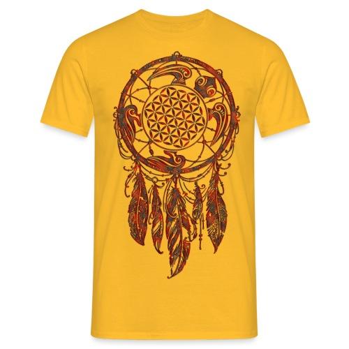 Blume des Lebens Traumfänger Schildkröte - Männer T-Shirt