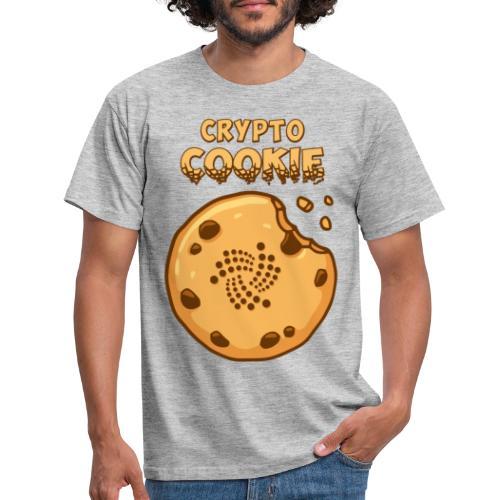 Crypto Cookie - IOTA - BTC, Bitcoin - Keks - Männer T-Shirt