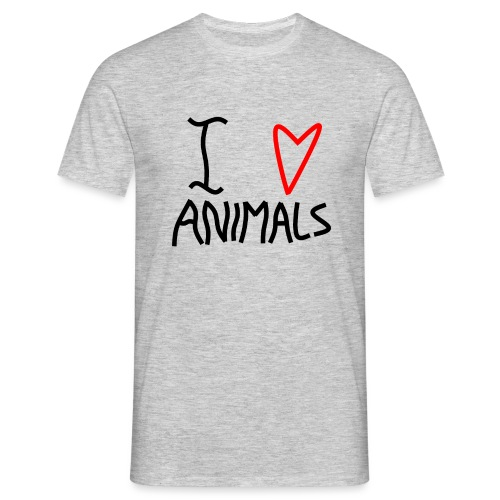 I Love Animals - Herre-T-shirt