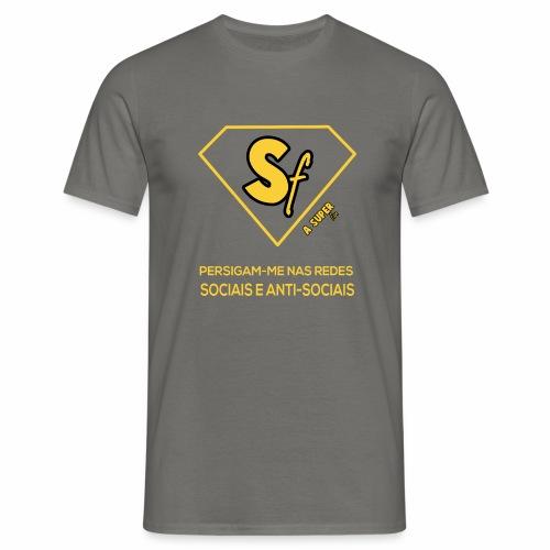 Persigam me nas redes sociais e anti-sociais - Camiseta hombre
