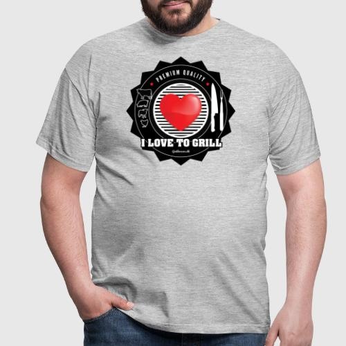 LOVETOGRILL png - Herre-T-shirt