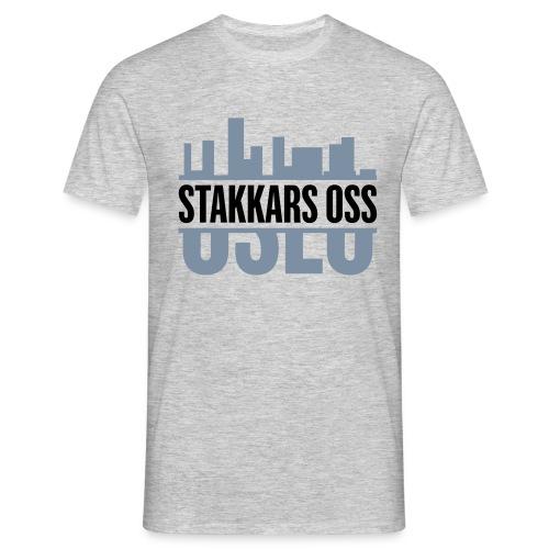 stakkars oss logo 2 ny - T-skjorte for menn