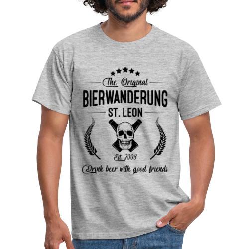 Bierwanderung Logo Drink beer - Männer T-Shirt
