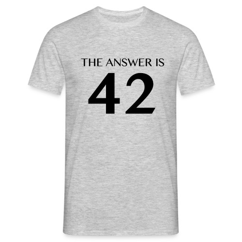 The Answer is 42 Black - Men's T-Shirt