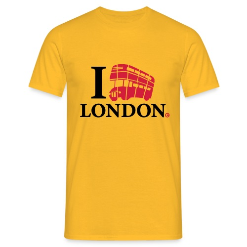 I love (Double-decker bus) London - Men's T-Shirt