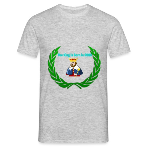 The king is born in 2008 - Männer T-Shirt