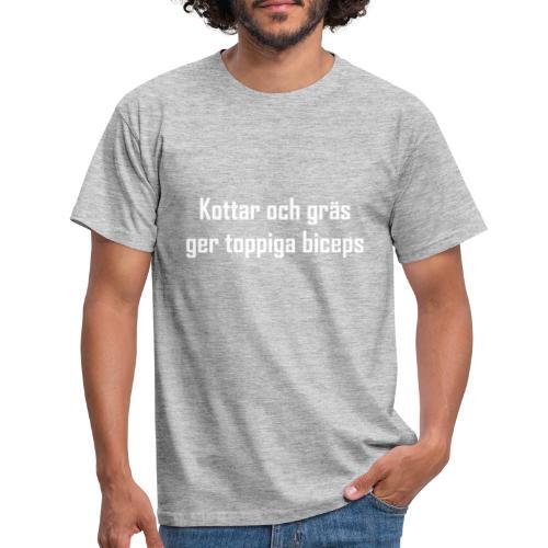 Kottar och gräs vit - T-shirt herr