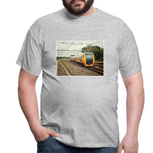 Dieseltrein in Santpoort - Mannen T-shirt