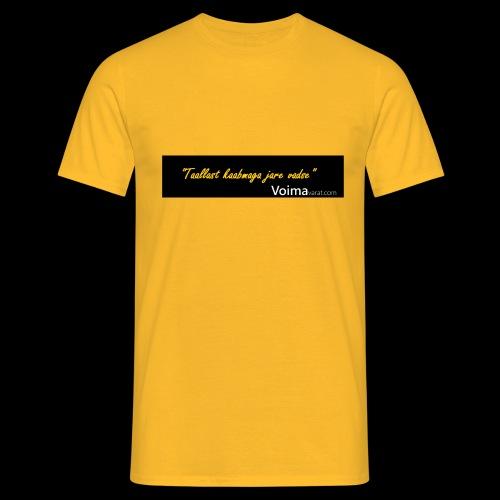 Voimavarat slogani - Miesten t-paita