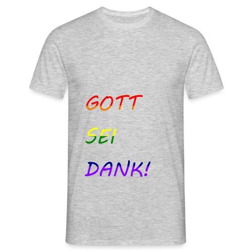 Gott sei dank Rainbow #1 - Männer T-Shirt