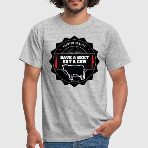 SAVE A BEET, EAT A COW - Herre-T-shirt