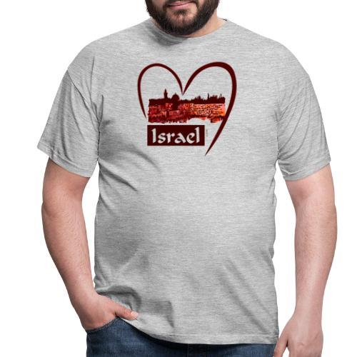 Jerusalem - I love Israel - Sunset - Männer T-Shirt