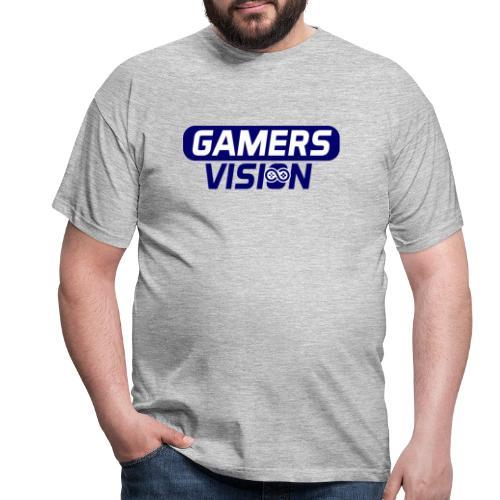 GamersVisiont logo blauw - Mannen T-shirt
