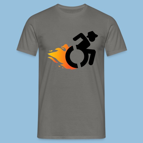Roller met vlammen 016 - Mannen T-shirt