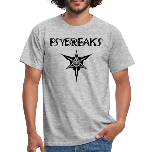 Psybreaks visuel 1 - text - black color - T-shirt Homme