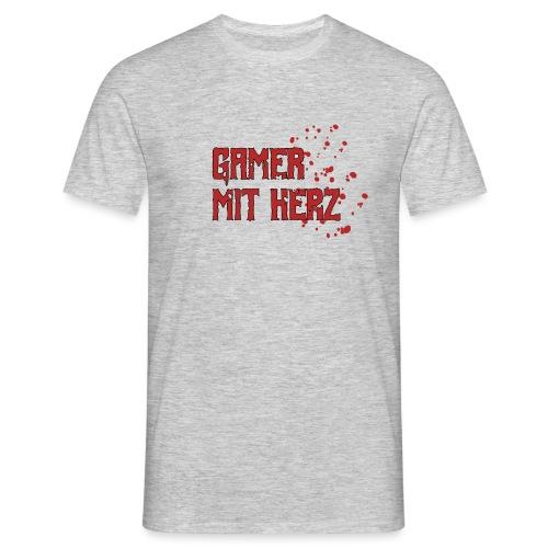 Gamer with heart - Men's T-Shirt