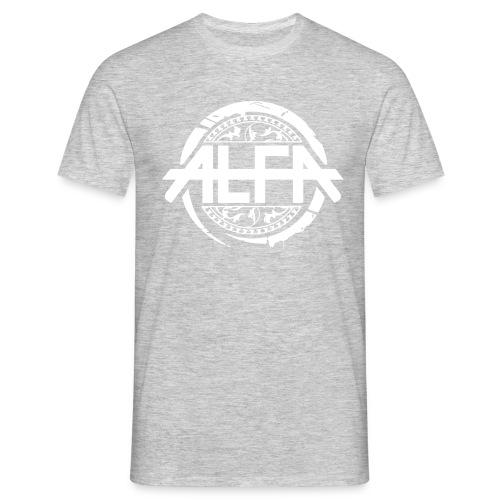 Alfa Logo weiss - Männer T-Shirt